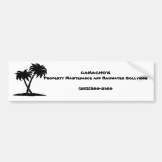 palm CAMACHO S Property Maintenance and Rainwa Bumper Sticker