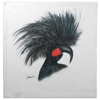 palm cockatoo parrot, tony fernandes napkin