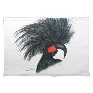 palm cockatoo parrot, tony fernandes placemat