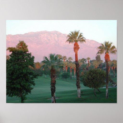 Palm Desert at Sunset Poster