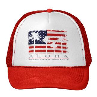 Palm Flag Hawaii Trucker Hats