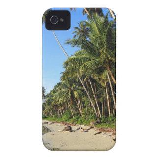 Palm fringed tropical paradise coast iPhone 4 Case-Mate case