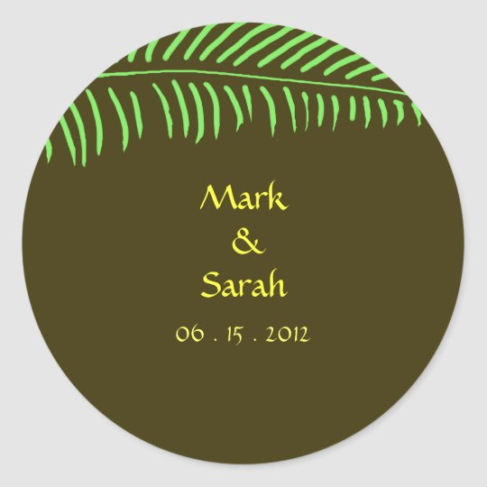 Palm Frond Invitation Sticker