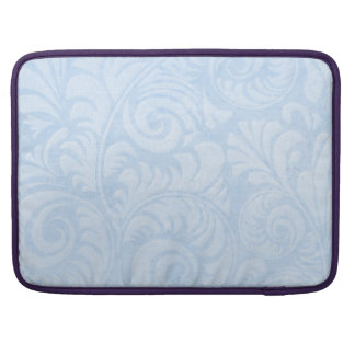 """Palm Fronds 15"""" Macbook Sleeve in Blue"""