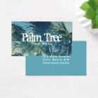 Palm Fronds Photo Business Card