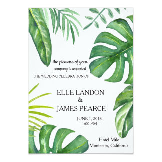 Palm Fronds Wedding Invitation