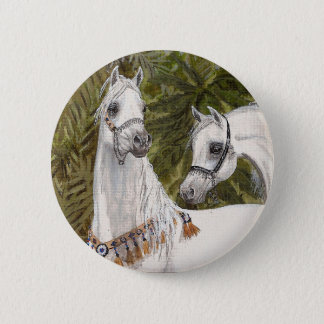Palm Grove Arabian horse round button