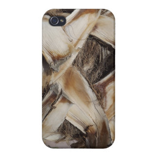 Palm Husk Wood Grain Photo Cases For iPhone 4