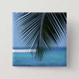 Palm leaf 15 cm square badge