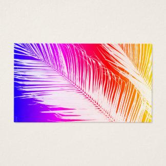 palm leaf business card template original art