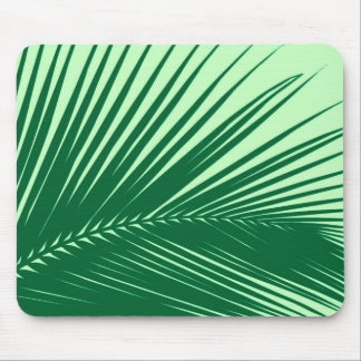 Palm leaf - emerald and lime green mousepads
