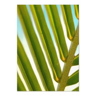 Palm Leaf Photo Magnetic Invitations