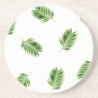 Palm Leaf Print Tropical Coaster