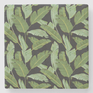 Palm Leaves 2 Stone Coaster