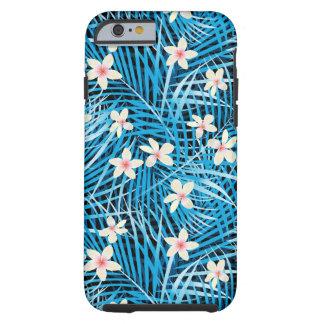 Palm Leaves Blue Pattern Tough iPhone 6 Case