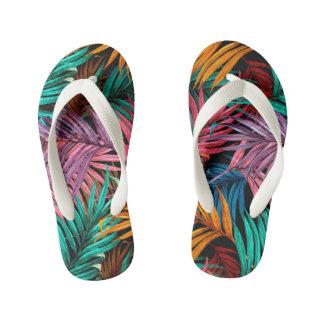 palm Leaves (fullcolor) Kid's Flip Flops