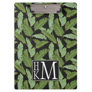 Palm Leaves | Monogram Clipboard