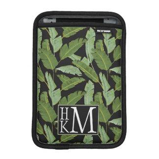 Palm Leaves | Monogram iPad Mini Sleeve