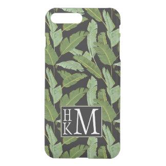 Palm Leaves | Monogram iPhone 8 Plus/7 Plus Case