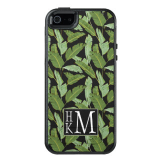 Palm Leaves | Monogram OtterBox iPhone 5/5s/SE Case