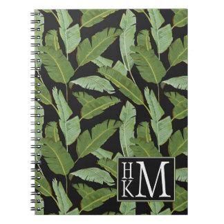 Palm Leaves | Monogram Spiral Notebooks