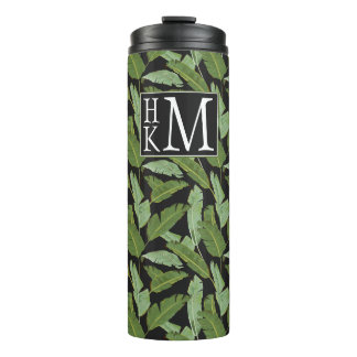 Palm Leaves | Monogram Thermal Tumbler