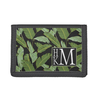 Palm Leaves | Monogram Trifold Wallets