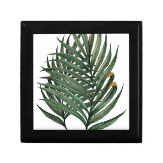 Palm leaves t-shirt small square gift box