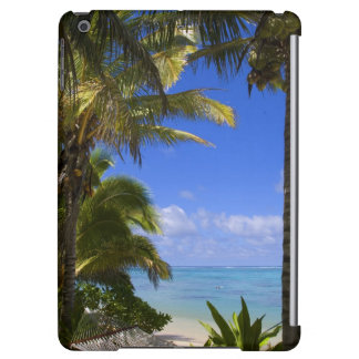 Palm lined beach Cook Islands 2