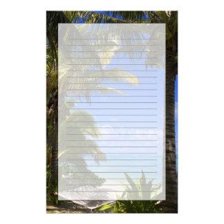 Palm lined beach Cook Islands 2 Custom Stationery