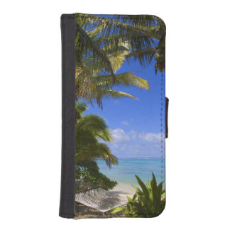 Palm lined beach Cook Islands 2 iPhone SE/5/5s Wallet Case