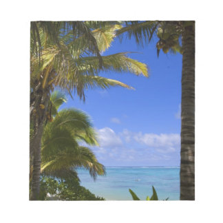Palm lined beach Cook Islands 2 Notepad