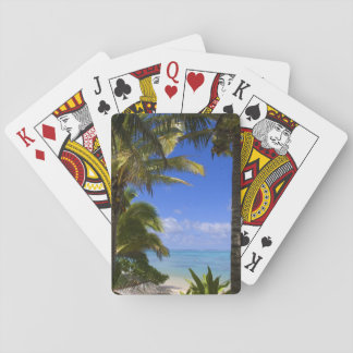 Palm lined beach Cook Islands 2 Playing Cards