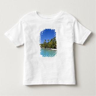 Palm lined beach Cook Islands 2 T Shirt
