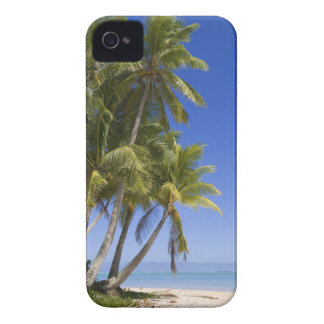 Palm lined beach Cook Islands 3 iPhone 4 Case