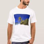 Palm lined beach Cook Islands 7 T-Shirt