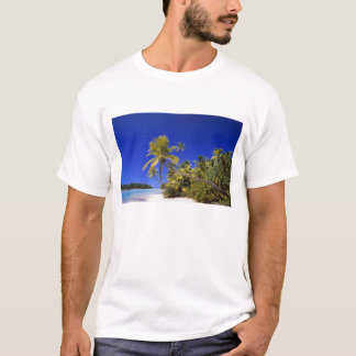 Palm lined beach Cook Islands 7 T-Shirt