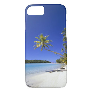 Palm lined beach Cook Islands iPhone 8/7 Case
