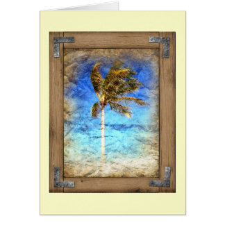 Palm Picture Framed Greeting Card