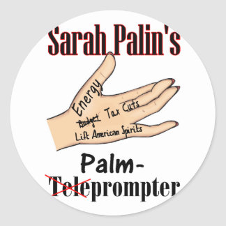 palm prompter round stickers