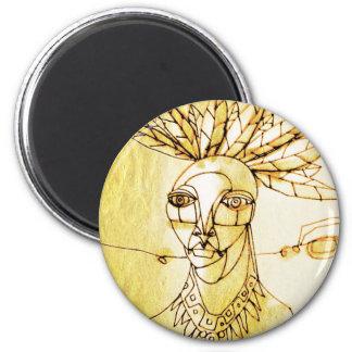 palm queen 6 cm round magnet