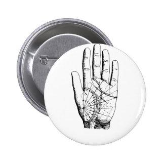 Palm Reader Print Psychic Gypsy 6 Cm Round Badge