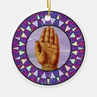 Palm Readers Pendant Round Ceramic Decoration