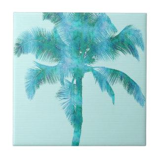Palm Silhouette Blue Watercolor Background Texture Tile
