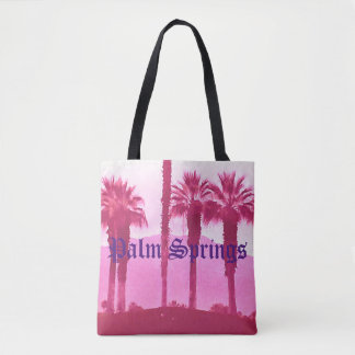 Palm Springs All-Over-Print Tote Bag
