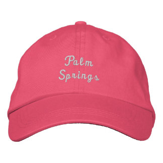 Palm Springs California Adjustable Hat Embroidered Hat