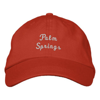 Palm Springs California Adjustable Hat Embroidered Hats