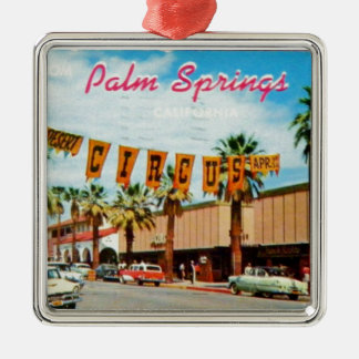 Palm Springs, California - Vintage Postcard Christmas Ornament
