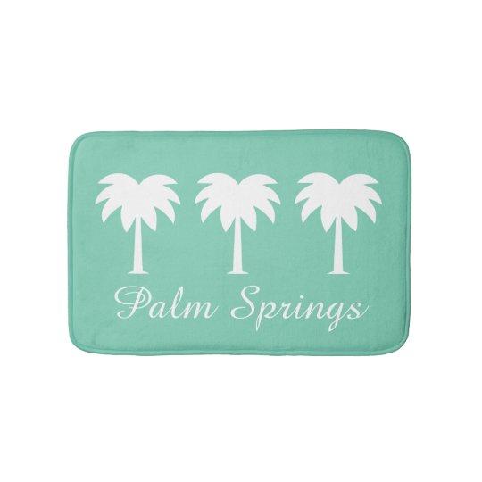 Palm Springs green palm tree non slip bath