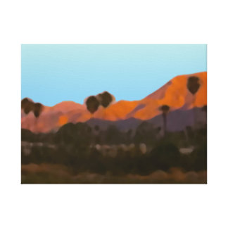 Palm Springs San Jacinto Mountains View Stretched Canvas Print